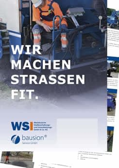 Übersicht zum WSI Leistungsspektrum zur Straßensanierung
